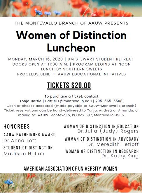 AAUW Women of Distinction Luncheon